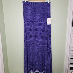 LULAROE Maxi Shirt purple/black L NWT